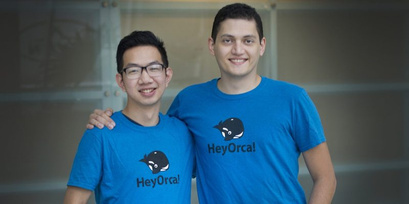 Joseph Teo and Sahand Seifi, co-founders of HeyOrca