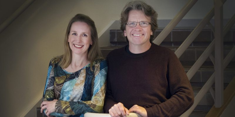 Dr. Nancy Dahn and Prof. Timothy Steeves.