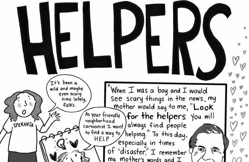 Cartoonist Sally Campbell Galman: The helpers among us