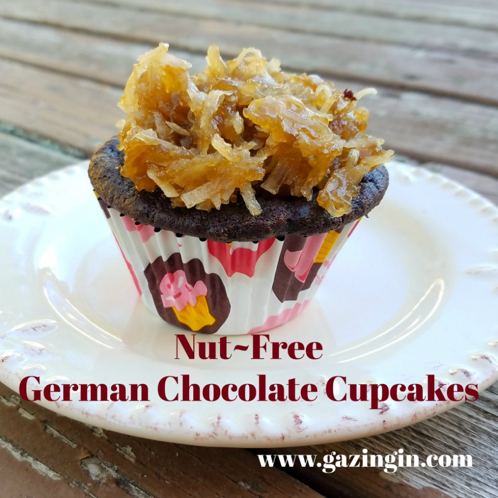 Nut Free German Chocolate Cupcakes