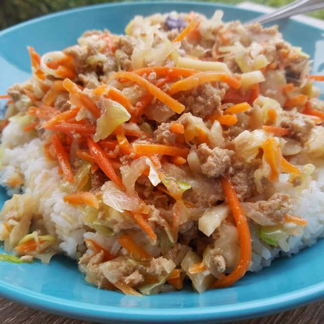Instant Pot egg roll in a bowl