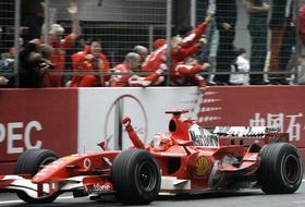 Michael Schumacher, 37 anni, 7 volte iridato. Ap