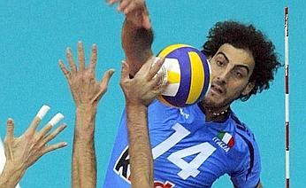 Alessandro Fei in attacco contro la Russia. Ansa