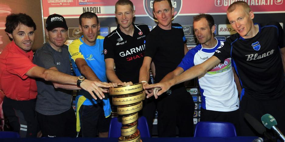 """Giro d'Italia. Wiggins: """"E' una nuova sfida"""". Nibali: """"Ci vediamo sulle montagne"""""""