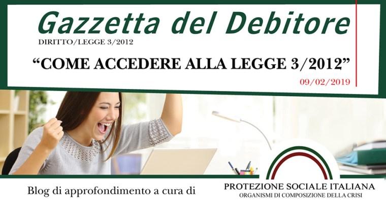 accedere-legge-gazzetta-del-debitore-2019