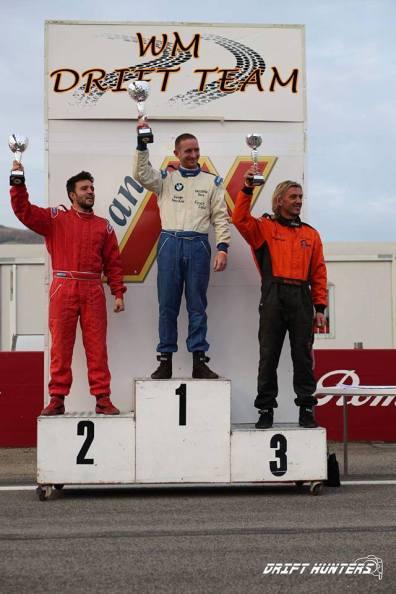 Il podio della categoria racing - Round 5 - Campionato Italiano Drifting 2016