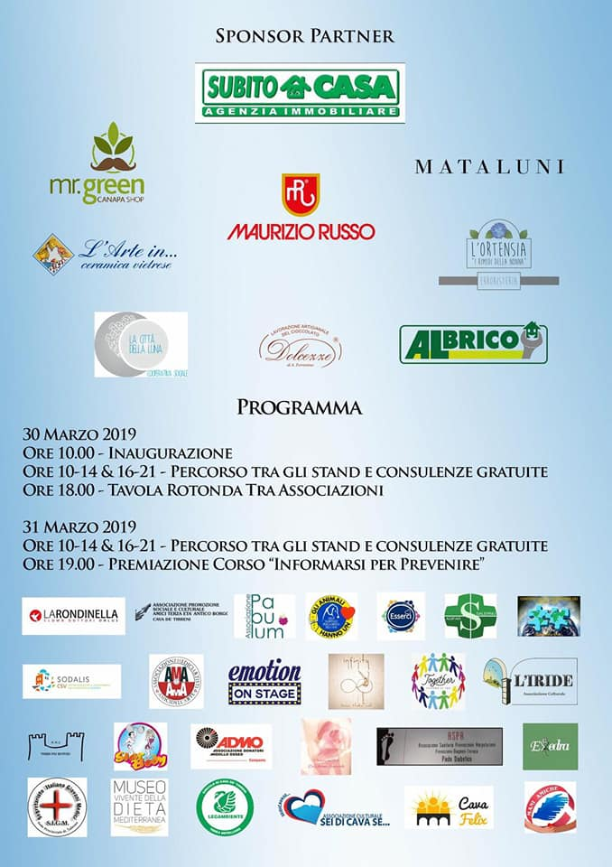L Associazione Pabulum Partecipa A Benessere In A Cava Gazzetta Di Avellino