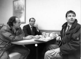 Mario Conte a pranzo con Antonio Di Pietro ai tempi delle inchieste di Tangentopoli