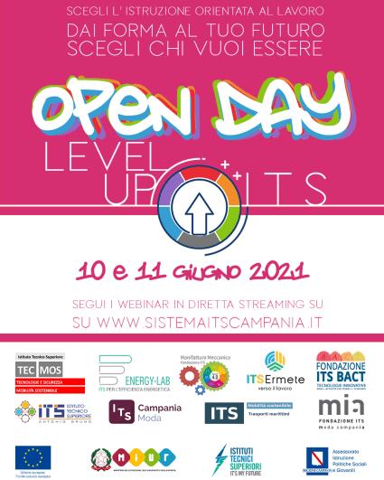 Flyer Open Day Sistema ITS Campania 2021