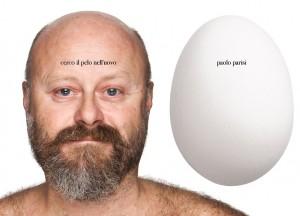 Paolo Parisi con il suo uovo (ph. O.Toscani)