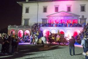 L'arrivo della carrozza dell'Arciduchessa alla Villa Medicea di Poggio a Caiano