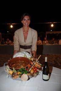 """Gaia Franceschi con la """"polenta gentile ai coltellacci"""""""