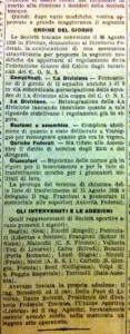 L'articolo de La Nazione del 28 agosto 1926