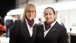 La presidente nazionale -Graziella Cescon e Laura Maggi, segretaria nazionale