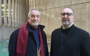 L'artista Giampaolo di Cocco e  il Prof. Valerio Dehò