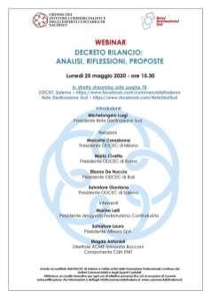 webinar ODCECSA Decreto Rilancio 25 maggio 2020
