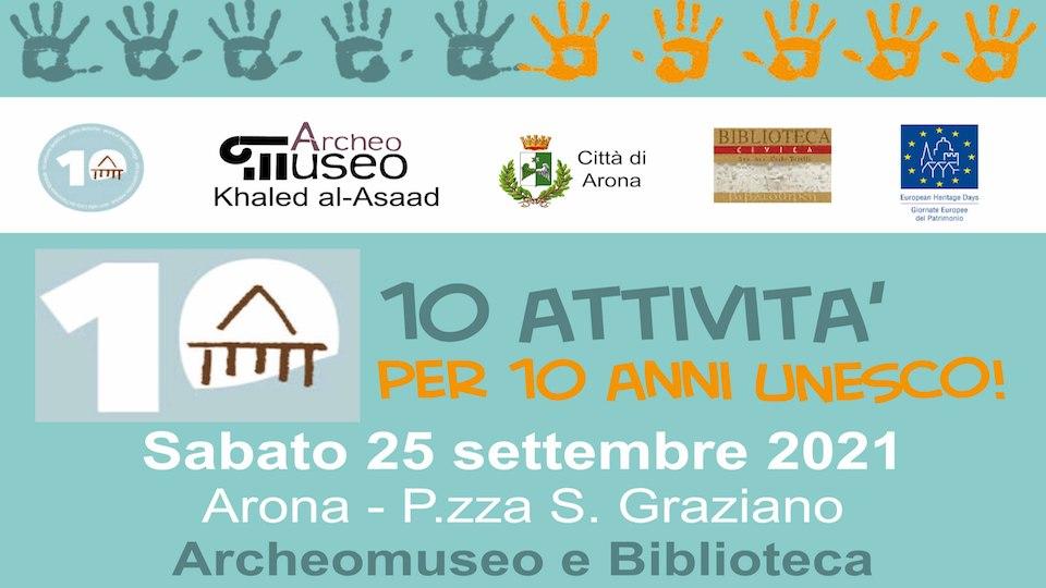 10 attività per 10 anni UNESCO all'ArcheoMuseo di Arona