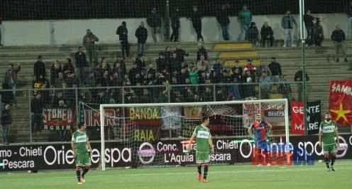 1819 coppa italia serie c teramo samb squadra triste tifosi
