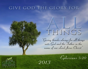 Image result for image give God the glory for all things