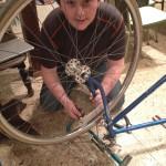 Workin' on the banquet bike