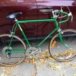 Green bike before...