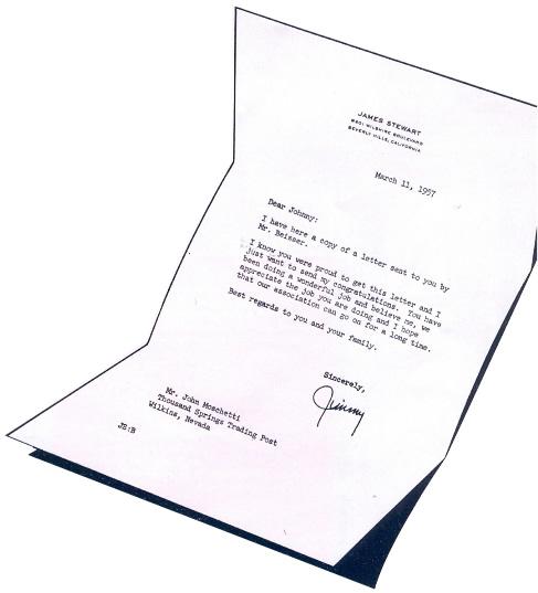 Jimmy Stewart Letter