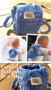 Crochet a Backpack for a doll 20 cm (8 inch) – gbcreates 073bcc0663729