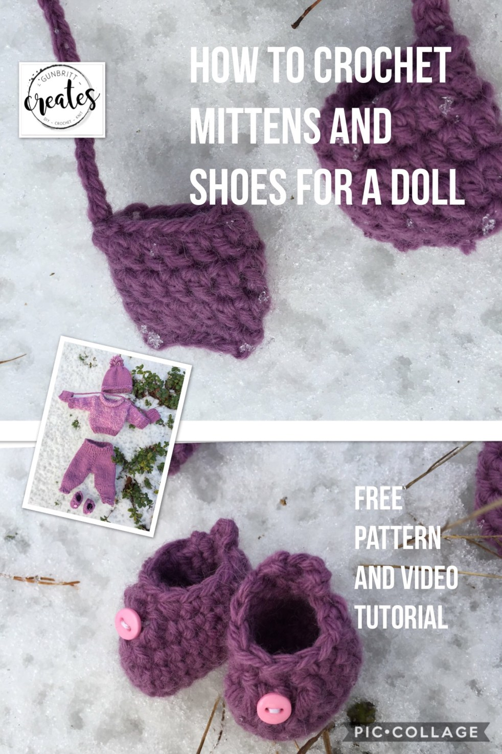 How to crochet Mittens and Shoes for a Doll – gbcreates