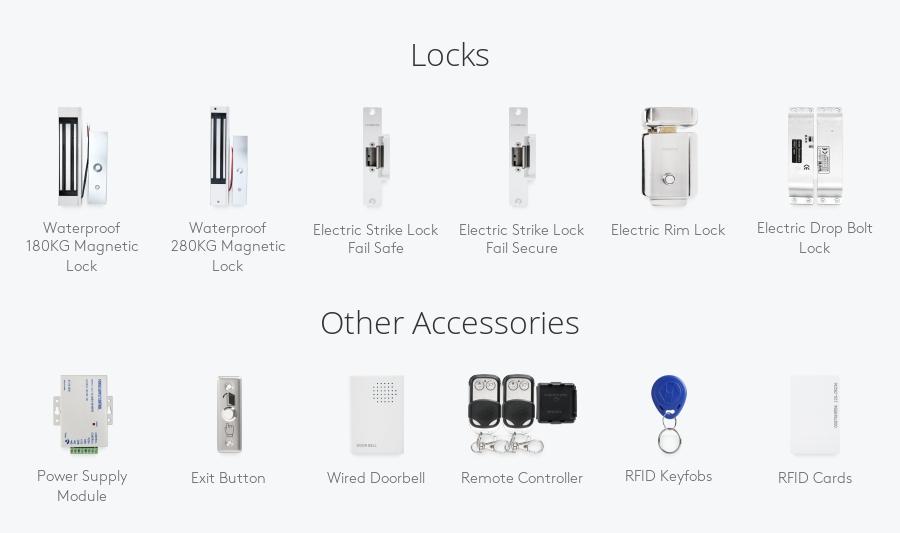 Door RFID ID Card Reader Access Control Keypad + Free10 ID