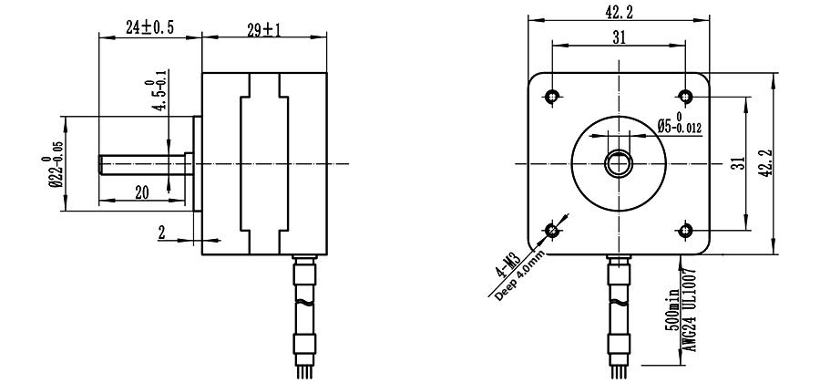 ENGMATE EMA172-2908S4 Nema 17 CNC Router Stepper Motor 4
