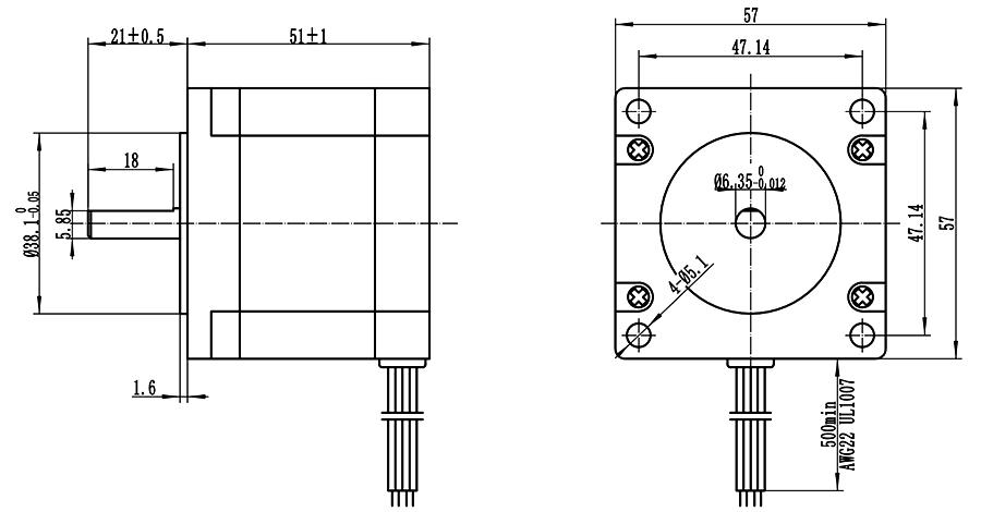ENGMATE EMA232-5115S4 Nema 23 CNC Router Stepper Motor 4