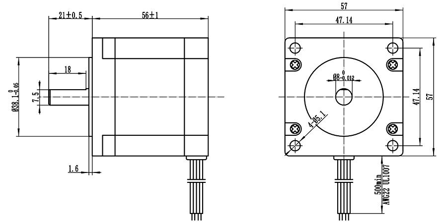 CNC Kit 3 Axis Breakout Board & Nema23 Stepper Motor For