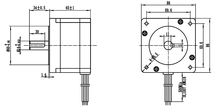 EMGMATE EMA342-6530S4 Nema 34 CNC Router Stepper Motor 4