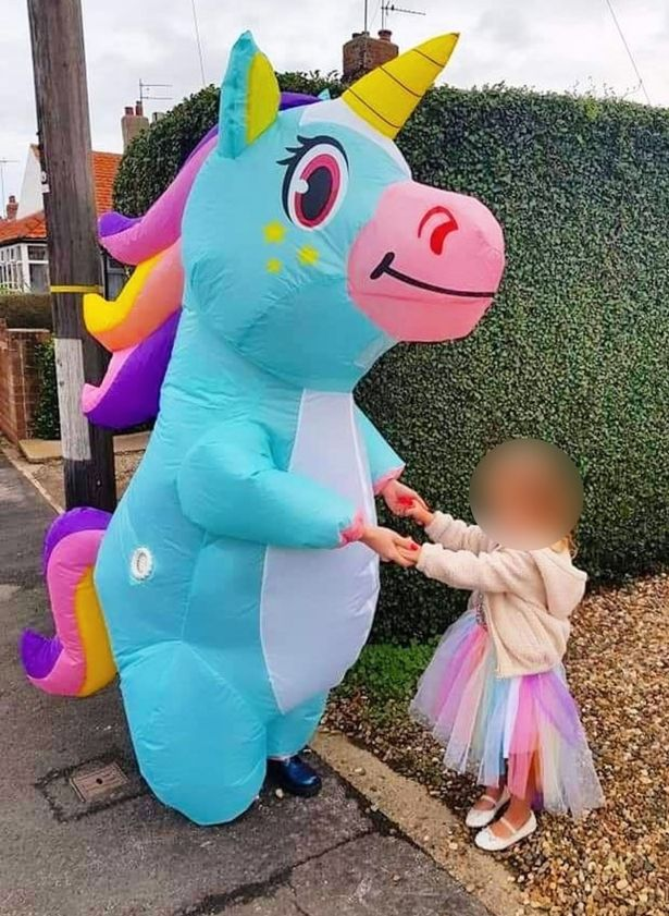 Mum spends £1,000 on fancy dress outfits for school run to ease daughter's nerves