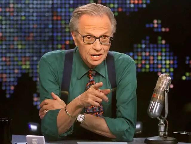 Talk host Larry King
