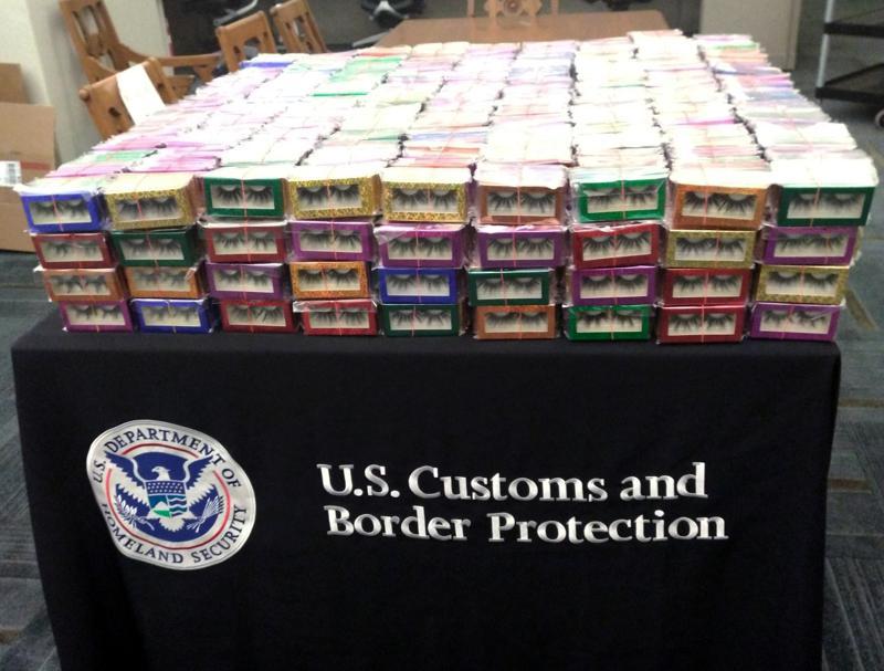 Customs seizes 3,000 False Eyelashes from Smugglers