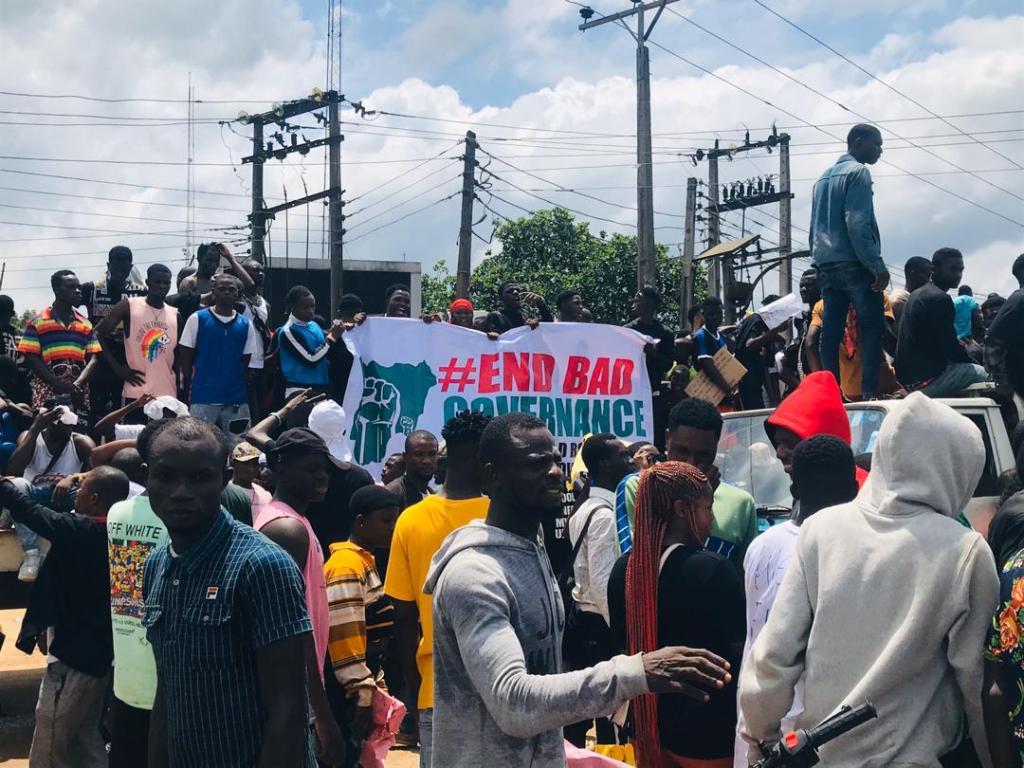Abraka Community Holds EndSARS Protests