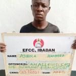 Meet Ibadan Scammer, Ajibola Hammed who is also Jessica Mercy