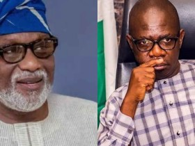 Akeredolu rejects deputy's handshake after signing peace accord
