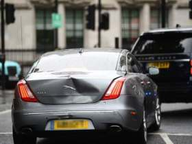 Boris Johnson involved in car crash outside Parliament