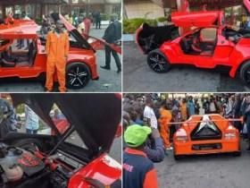 Jerry Isaac Mallo, Unveils Nigeria's First 'Carbon Fibre' Sports Car.