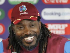 Gayle flaunts 'Moon Walk' after finishing quarantine