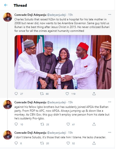 Souldo's N2bn for Mother: Deji Adeyanju has been bribed - Chinedu Obigwe