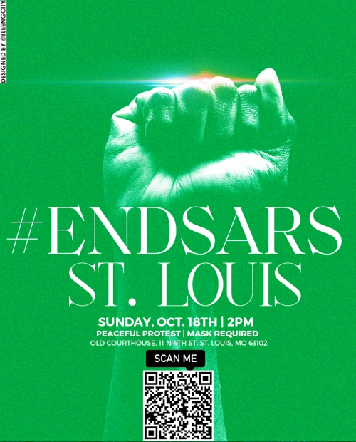 ST. Louis #EndSARS Protest scheduled for October 18