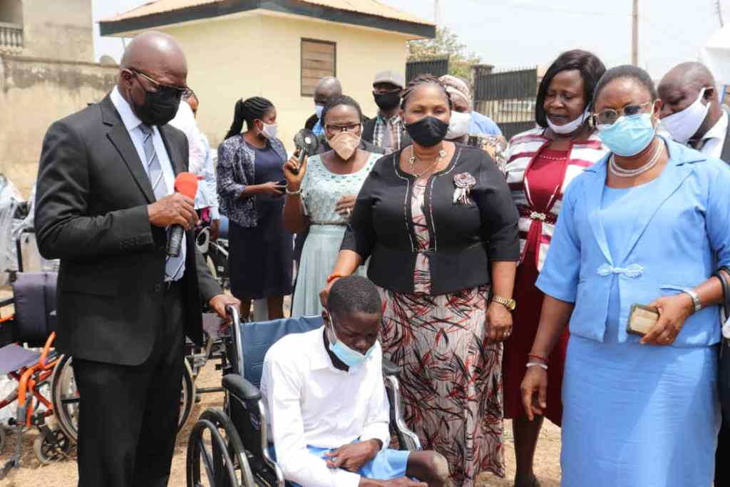Int'l Wheelchairs Day: Ogun Fetes Physically-Challenged Students, Donates Wheelchairs