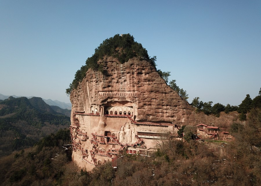 Maiji Mountain Grottoes is one of the four most famous grottoes in China