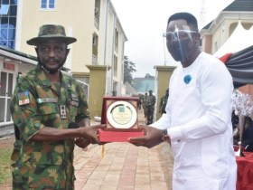 Hon. Friday Ossai Osanebi awarded by Nigerian Army