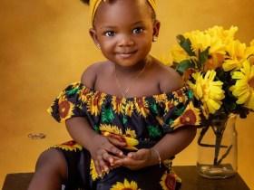 Simi, Adekunle gold unveils baby's face as She turns one