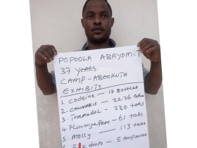 Law enforcement officer arrested for selling drugs to students and cultists