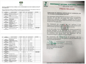 INEC removes Ozigbo and Sulodu as Governorship candidate